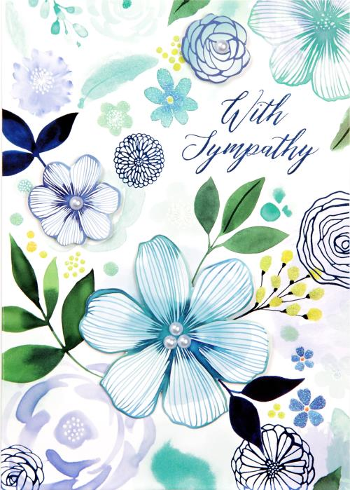 Soft Floral Composition Card-Sympathy-Gen